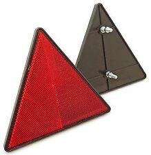 Riflettore triangolare - montaggio a bullone posteriore - per rimorchi - rosso