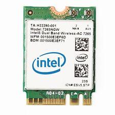 Intel 7265 802.11ac Dual-Band Wireless M.2 Adapter[7265.NGWWB.W]