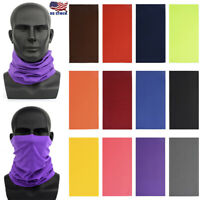 Outdoor Cycling Seamless Magic Turban Sunscreen Summer Scarf Cover Face Mask US