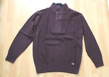 Man's World Herren-Pullover - Größe 48/50 - Langarm - Farbe Aubergine - Neu