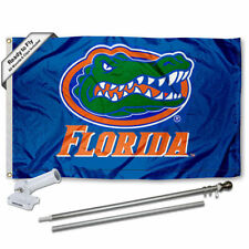 Florida Gators Blue Flag Pole and Bracket Gift Package