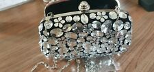 BUTLER & WILSON JEWELLED BAG - CLEAR  COLOURED