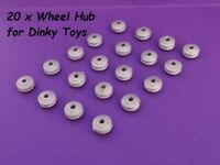 20 x Wheel Hubs ~ Dinky Toys Ridged wheel hub fit 2mm axles Cars Trucks Lorry's