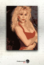 "KELLY BUNDY - CANVAS 16""x12"" - poster Christina Applegate Married with Children"