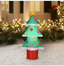 Christmas Tree Inflatable 4 ft Airblown Holiday Time Gemmy Yard Decor NEW