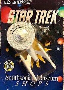 Enterprise Star Trek Die Cast Ship NCC-1701 Smithsonian Museum Shops 1991 ERTL
