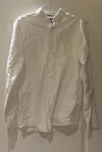 H & M Regular Fit Mens Dress Shirt Size S White