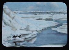 Rare Glass Magic Lantern Slide Photo Nansen Arctic Expedition Ice Channel 1895