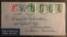 1947 St Amandsberg Belgium Airmail Cover To Ontario Canada