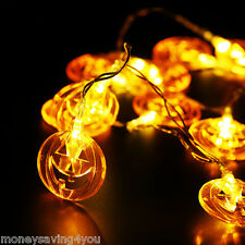 US Ship! LED Paper Pumpkin Bat Spider Hanging Light Lamp Halloween Party Decor