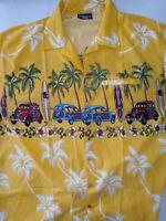 $50 Pacific & Co Mens Casual Hawaiian Tropical Floral Short Sleeve Shirt