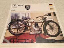 Fiche moto collection Atlas motorbike TWN Triumph 250 Knirps 1920