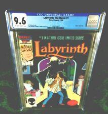 LABYRINTH THE MOVIE #1 CGC 9.6: DAVID BOWIE-GOBLIN KING, JENNIFER CONNELLY-SARAH