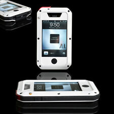 White Aluminum Metal Case Cover Gorilla Glass For iPhone 4 4S ShockProof AU