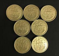 1988 98 99 90 91 00 02 SET OF 7 GIBRALTAR MONTIS INSIGNIA CALPE POUND COIN £1