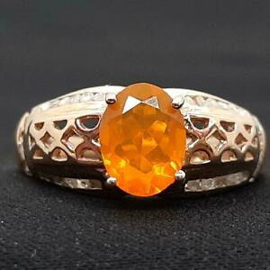 $999 14K Rose Gold/925 1.65ctw Mexican Fire Opal Channel Set & H-SI Diamond Ring