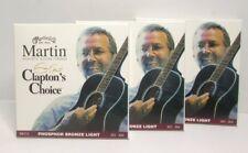 Lot 3 Martin & Co Acoustic Guitar Strings MEC12 Phosphor Bronze Light .012-0.54