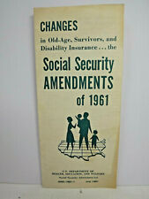 1961 Brochure on Changes to Social Security and Other Benefits in 1961