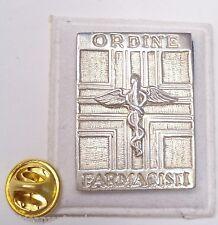 Spilla da giacca (pins) Ordine dei Farmacisti in Argento 925 - simbolo farmacia
