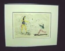 """Native American artist Randy Lee White watercolor painting """"Non Gentle Giant"""""""