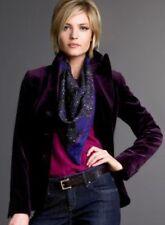 New J.CREW Velvet Bella Jacket Purple Plum Coat Blazer Lined Career Sz 0 NWOT