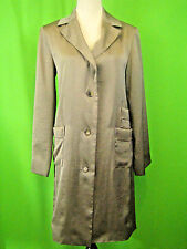 MARC by Marc Jacobs Satin Metallic Polyester Summer Coat S