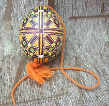 """Etched easter egg. Painted blown very nice """"PYSANK PISANKA"""" TOP QUALITY EGGS"""