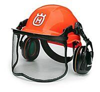 Husqvarna Tough Functional Forest Helmet with Wheel Ratchet Ear Muffs 592752701