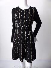 CAROLINE MORGAN Size 10 US 6   Long Sleeve Knit Shift Dress