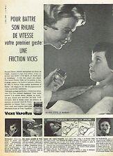 F- Publicité Advertising 1958 Vicks VapoRub