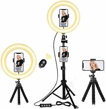"""Selfie Light Ring 10"""" Ring Light with Tripod Stand & Cell Phone Holder Led Ring"""