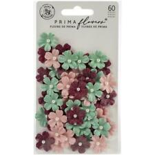 Prima Pretty Mosaic Mulberry Paper Flowers Carnelian 60 Papier Blüten begl. 2 cm