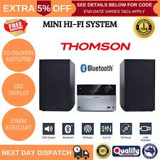 THOMSON Micro Hi-Fi System Bluetooth CD USB MP3 Player Remote FM Radio AUX Mini