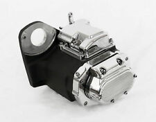 NEW black and chrome 6  SPEED LSD TRANNY, FOR HARLEY SOFTAIL 1991-1999