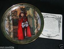 Wrapped With Love Plate by Sandra Kuck Victorian Christmas COA 2747 A