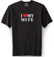 """New MEN'S PRINTED """"I LOVE MY WIFE"""" FUNNY T-shirt ALL SIZE"""