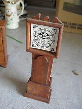 "Vintage Dollhouse Furniture - Wood Grandfather Clock 6"" Tall"