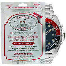 *NEW* CAPE COD METAL POLISHING CLOTH FOR SEIKO KINETIC & DIVERS WATCH - PACK OF