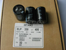1 Condensateur Chimique Snap in 330µF 330MF 400V 85° HITANO ELP331m2GBA 30x40mm