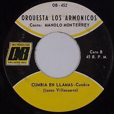 ORQUESTA LOS ARMONICOS: Cumbia En LLamas USA OBEY Latin 45 VG+