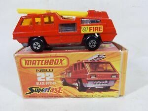 MATCHBOX SUPERFAST MB22 BLAZE BUSTER, MINT IN FAIR BOX