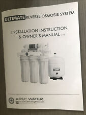 APEC Water Systems Reverse Osmosis Drinking Water Filter System with 5 Stages
