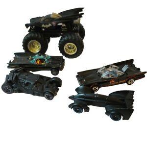 LOT 5 DIECAST Batmobile, Batman Cars Whizzwheels Corgi, Hot Wheels, DC Comic