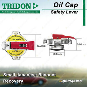 Tridon Safety Lever Radiator Cap for Mitsubishi 3000GT ASX Canter Challenger