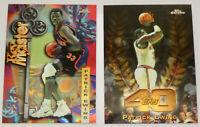 1997-98 TOPPS CHROME BASKETBALL Patrick Ewing (2x) Insert Card Lot NM Knicks NBA