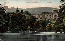 Cassel Kassel Hessen AK ~1910 Wilhelmshöhe Schloss Schlosspark Herkules Teich