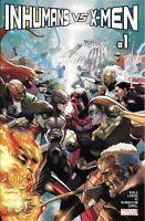 Inhumans Vs X-Men Comic Issue 1 Modern Age First Print Soule Lemire Yu Curiel