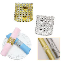 50x Gold Silver Napkin Ring Chairs Buckles Wedding Event Table Party Decoration