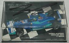 Felipe Massa Signed Minichamps 1/43 2002 Sauber Showcar #8 diecast model