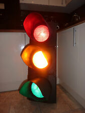 Genuine London Red/Amber/Green Traffic Light Unit - Rewired for Home/Garden Use